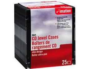Imation Storage Cd Jewel Case - Black (Pack Of 25