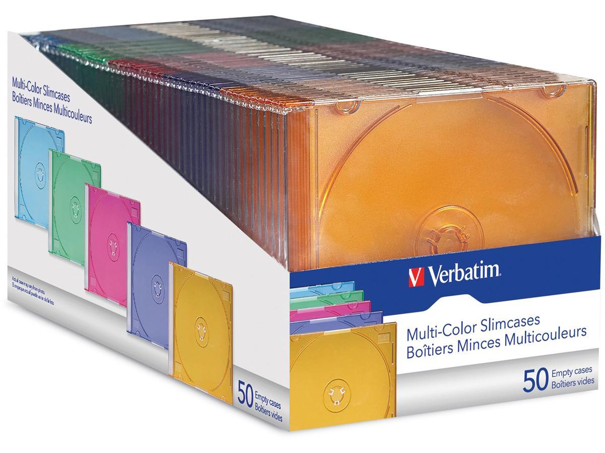 Verbatim Colour Cd/Dvd Slim Cases 50 Pack