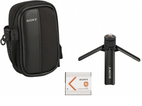 Sony Accessory Kit Includes Battery, Carry Case An