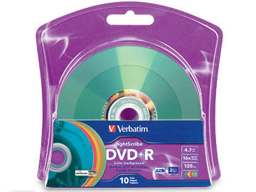 Verbatim Dvd+R 4.7Gb Color Lightscribe10Pk Blis