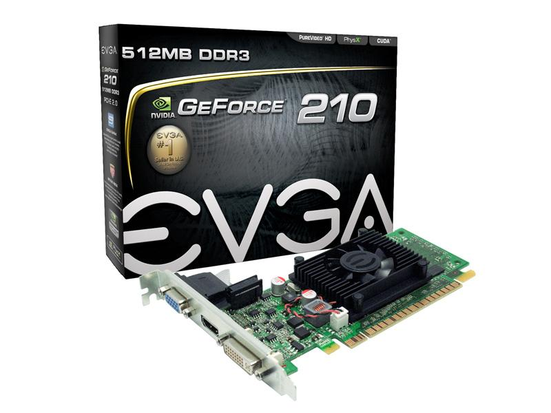 Evga Nvidia Geforce 210, Pci Express 2.0 X16, 520M