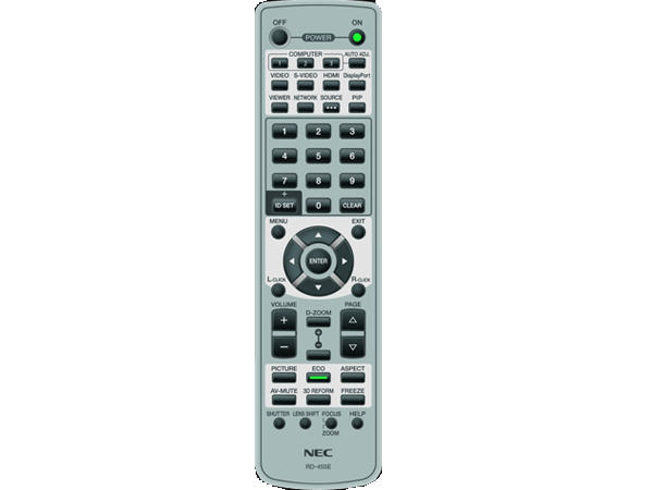 NEC Replacement Remote For Lt280, Lt380, Np1000, N