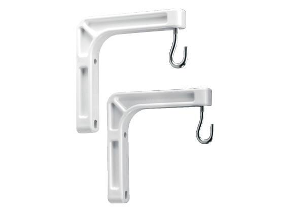 InFocus Screen Wall Extension Bracket 6 In White