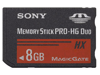 Sony Memory Stick Pro Hg Duo Hx (8Gb), Read Up To
