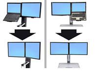 Ergotron Workfit Convert-To-Dual Kit Lcd Laptop