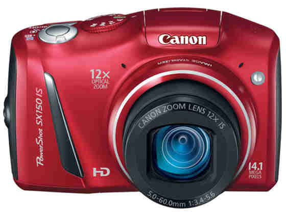 Canon Powershot Sx150 Is - 14.1 Mp - Ccd - 12 X -