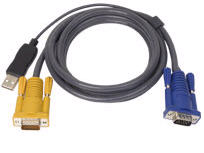 Aten Keyboard / Video / Mouse (Kvm) Cable - 4 Pin