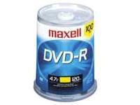 Maxell 100Pk Dvd-R Wo 16X 4.7Gb Recordbl Spdl