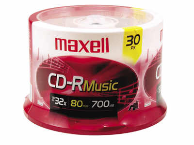 Maxell Cd-R-80 Music- Gold 30 Pc Spindle