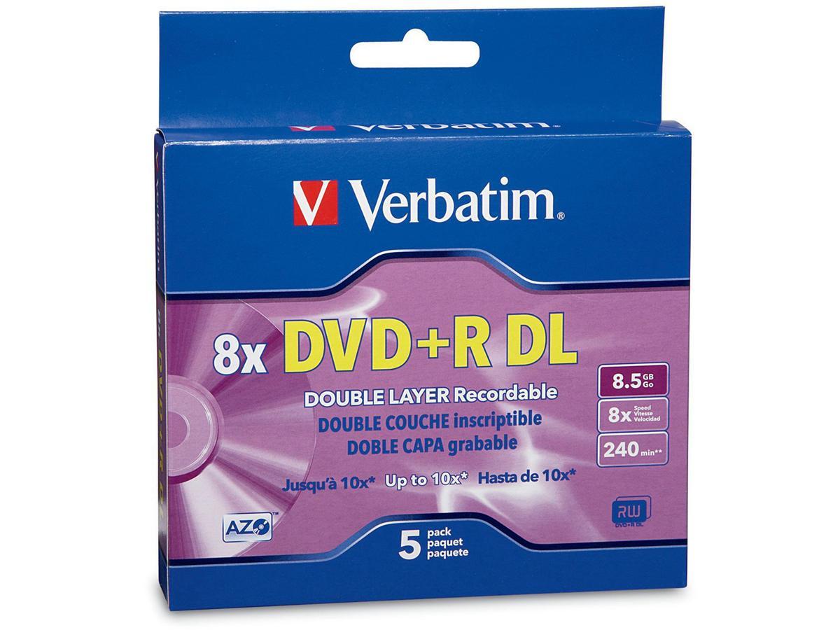 Verbatim Dvd+R Double Layer 8.5Gb 8X, Branded 5Pk