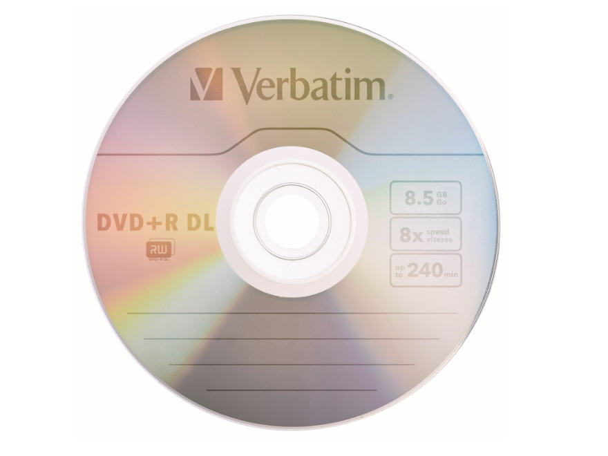 Verbatim Dvd+R Dl 8.5Gb 2.4X(Up To 8X) Branded Sur