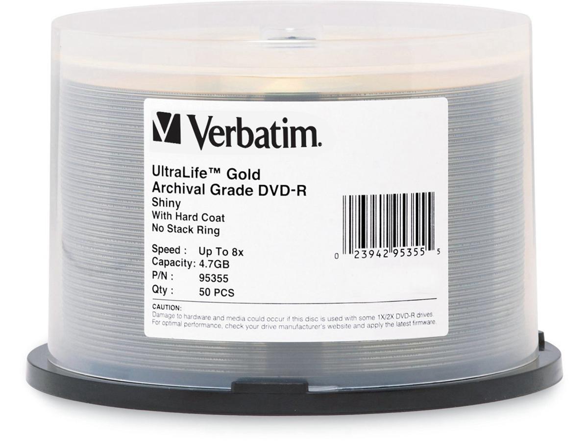 Verbatim Ultralife Gold Archival Grade Dvd-R 4.7Gb
