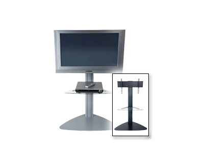 Peerless Flat Panel Tv Floor Stand With One Clear