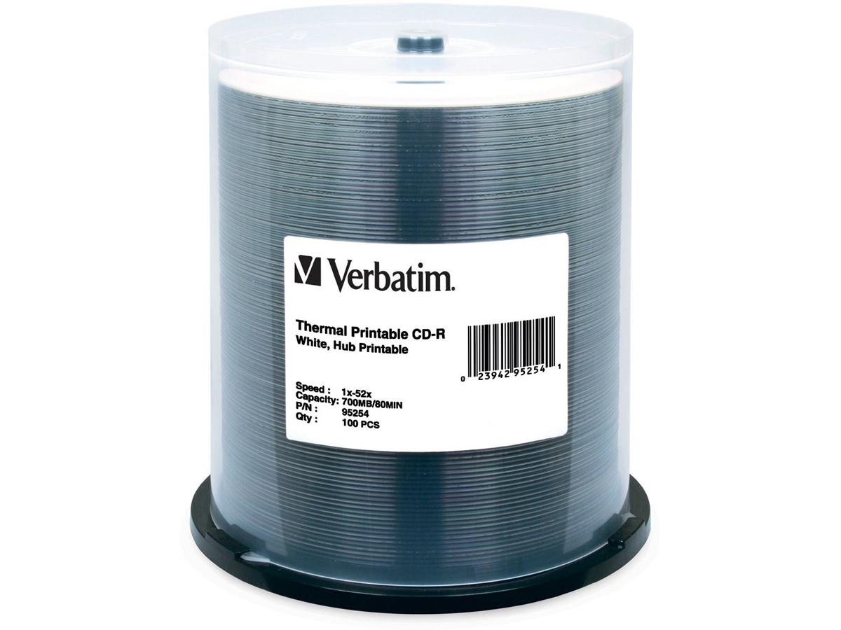 Verbatim Storage Media  - Cd-R - 700 Mb - 52X - Wh