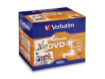 Verbatim Photo Dvd-R - 4.7 Gb - 16X - 10Pk Jewel C