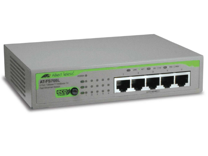 Allied Telesis Switch - 5 - Ethernet; Fast Etherne