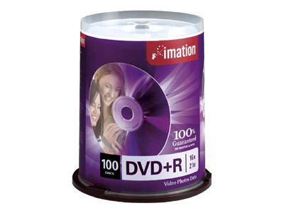 Imation 16X Dvd+R 4.7 Gb 100 Pack Spindle (Replace