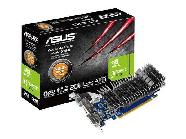 Asus Geforce Gt610 810Mhz 2G Dvi-I/Hdmi/Vga