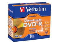 Verbatim Disc, Dvd-R, 4.7Gb, 8X, Ultralife Archiva