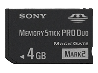Sony 4Gb Memory Stick Pro Duo