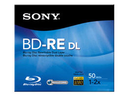 Sony Blu-Ray Disc Rw,1X-2X Spd,50Gb,Bare Disc