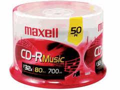 Maxell Cd-R 80 Music Gold 50 Pc