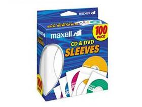 Maxell Cd & Dvd Sleeves White 100Pk Paper