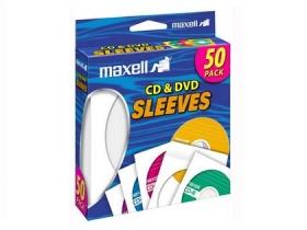 Maxell Cd & Dvd Sleeves White 50Pk Paper