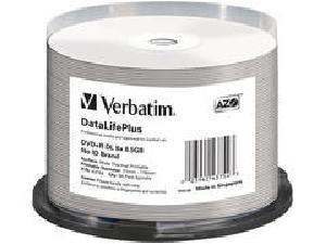 Verbatim Dvd+R Dl 8.5Gb 8X, White Wide Thermal Pri