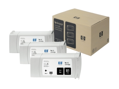 Hewlett Packard - HP Hp 81 - Ink Tank - 3 X Black
