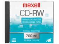 Maxell 25 X Cd-Rw - 700 Mb ( 80Min ) 4X - Storage