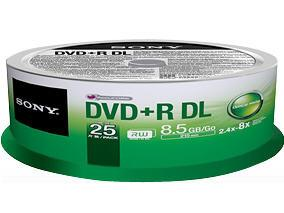 Sony 2.4X-8X Speed Dvd+R 25Pk Spindle