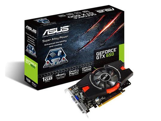 Asus Geforce Gtx650 1071Mhz 1G Dvi/Hdmi/Vga