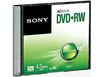 Sony 4X Speed 4.7 Gb Dvd&Rw Rewritable Disk In Sli