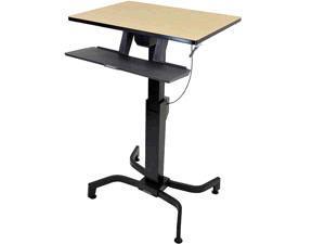 Ergotron Workfit-Pd, Sit-Stand Desk, Birch