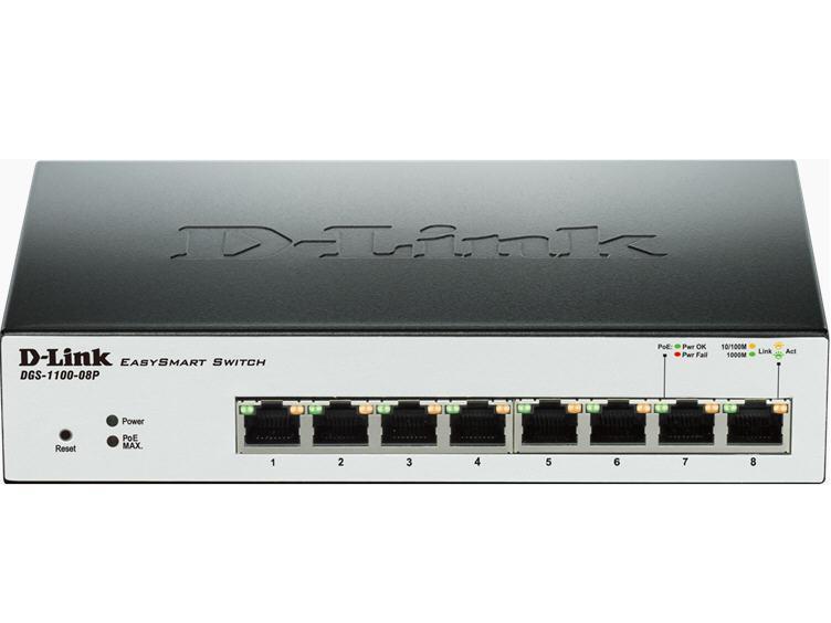 D-Link Easysmart 8-Port Gigabit Desktop Switch Wit