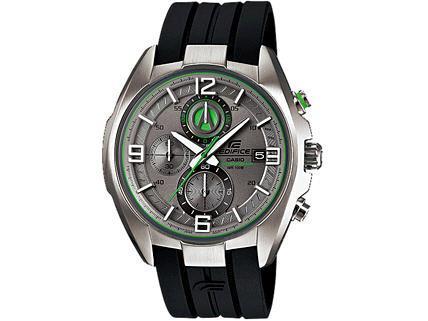 Casio Watch Edifice Mens Grey/Green Dial