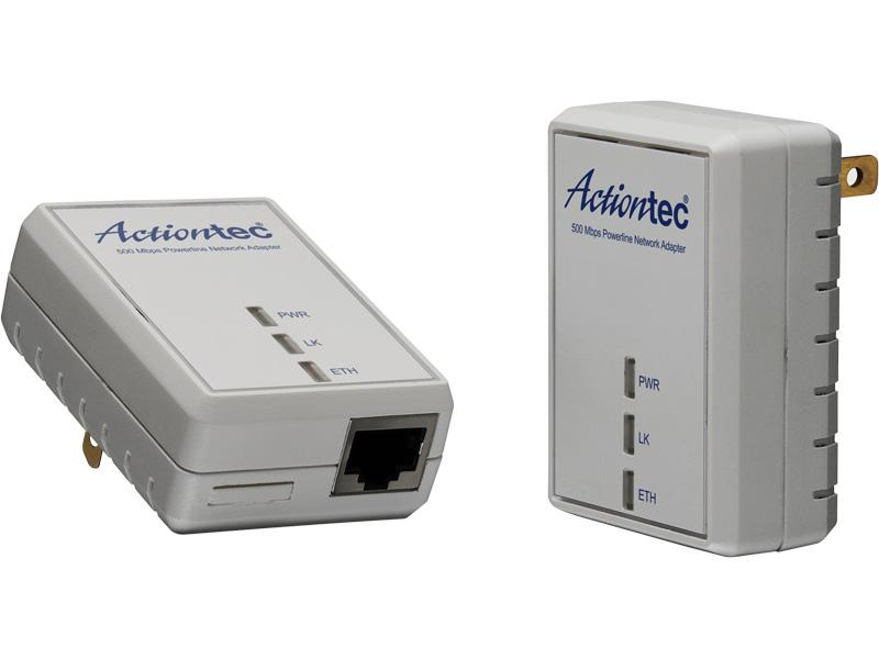 Actiontec 500 Mbps Powerline Home Network Adapter