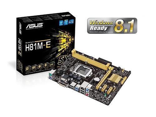 ASUS H81M-E Motherboard - Micro Atx - Lga1150 Socket - H81 - Usb 3.0 - Gigabit Lan - Onboard Graphics ...