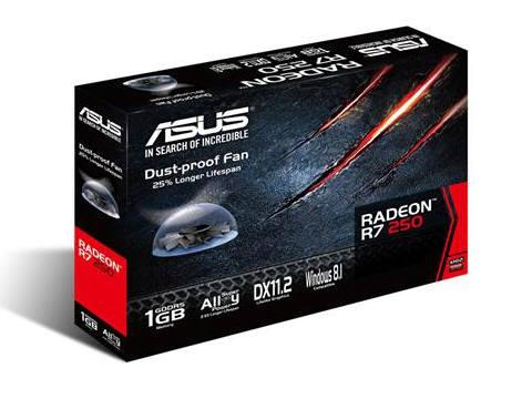 Asus R7250-1Gd5, Amd Radeon R7 250, Pci-Express 3.