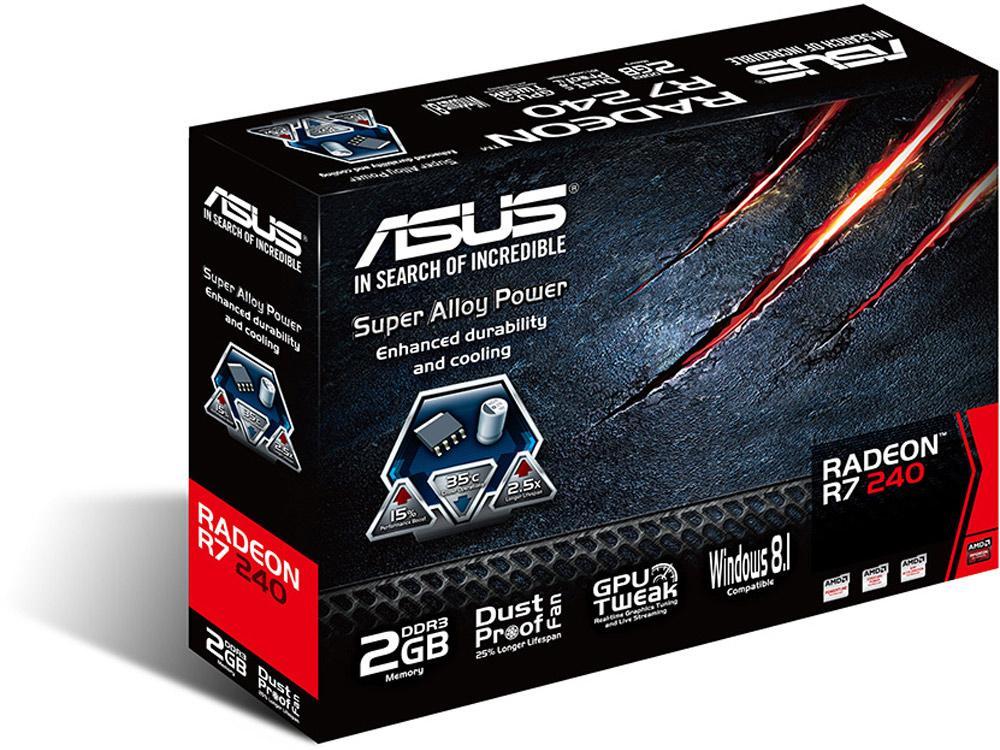 Asus R7240-2Gd3-L, R7 240, Gddr3 2Gb, 780Mhz Gpu C