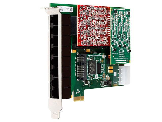 Digium 8 Prt Mdlr Anlg Pci-Exps Crd Trunk Ifc