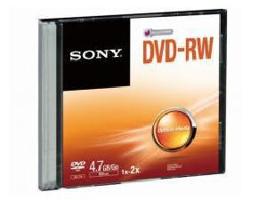 Sony 10 Pk Speed  Dvd-Rw Disk In Slim Jc