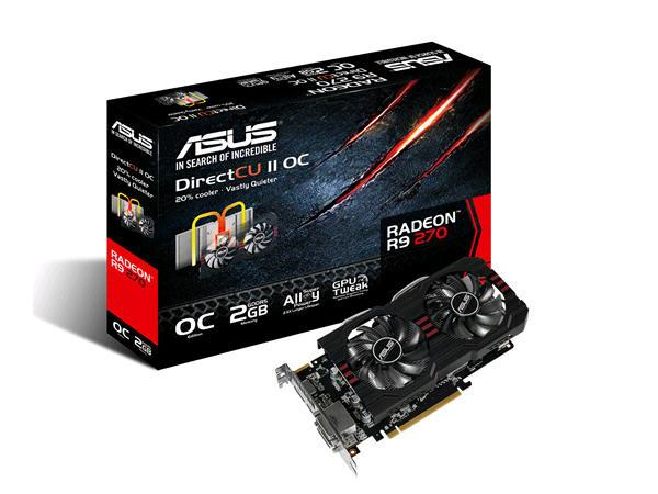 Asus Radeon R9 270,975Mhz Core Clock Speed,2Gb Ddr