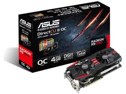 Asus R9290-Dc2Oc-4Gd5,Radeon R9 290,512 Bit,300W,6