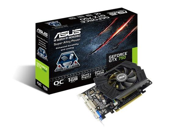 Asus Gtx750-Phoc-1Gd5,Nvdia Geforce Gtx750,Pci Exp
