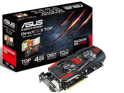 Asus Amd Radeon R9 270X,Pci Express 3.0,Opengl 4.3