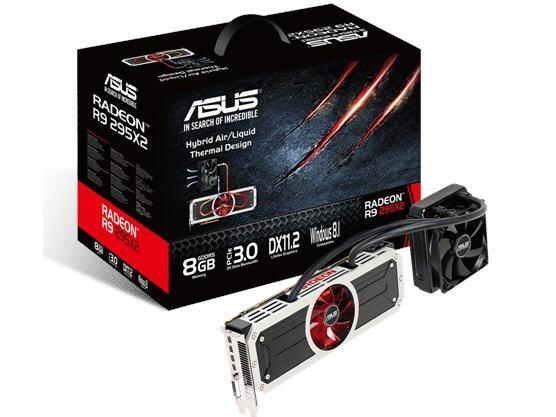 Asus R9295X2-8Gd5,Radeon R9 295X2,Ddr5 8 Gb,512 X