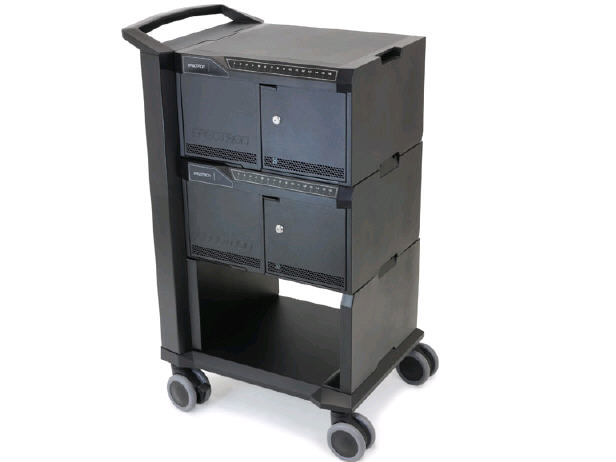 Ergotron Tablet Management Cart, Two Modules, 32 D