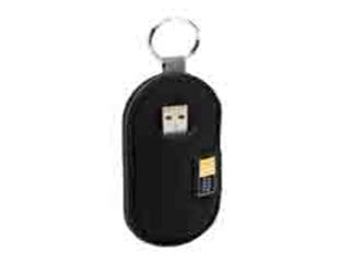 Case Logic 2-Capacity Neoprene Usb Stick Blk/Green